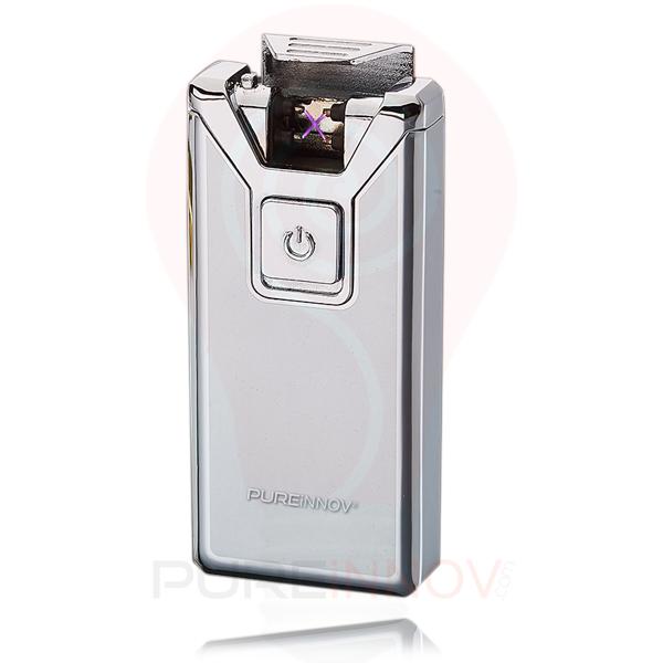 PureXtrem Silver Briquet Double Arc Electrique Pureinnov